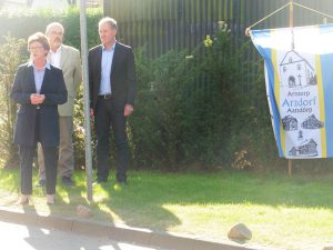 Bürgermeisterin Renate Offergeld und Beigeordneter Jörg Ostermann