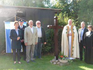 Geistlichkeit, Gemeinderepräsentanten und Vereinsvorsitzende Arzdorf.